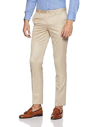 466b95ff55f blackberrys Men s Slim Fit Formal Trousers (BP-S-Easton   Beige 30W x 33L