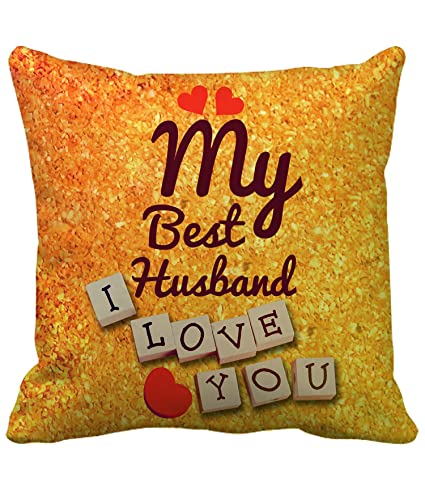 Buy TIED RIBBONS Birthday Anniversary Karva Chauth Gift For Husband Printed Cushion 12 Inch X With Filler Online At Low Prices In India