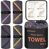 Dofilachy 4 Pack Camping Towel - Camping Towels Quick Dry Towel Microfiber Travel Sports Towel for Camp Bath Beach Swim…
