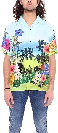 Versace B1GVA600 S0668 - Camisa para hombre, diseño de ...