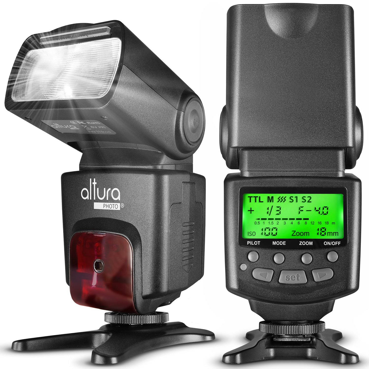 Altura Photo AP-N1001 Speedlite Flash for Nikon DSLR Camera with Auto-Focus, I-TTL, Wireless Trigger Slave Function by Altura Photo