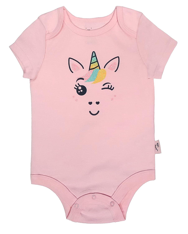 Mini Heroes Infant Girls 3PC Mermaid and Unicorn Bodysuit Pack Set