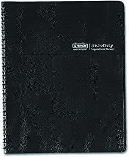 product image for House of Doolittle Monthly Planner with Expense Log, 14 Months December 2014 to January 2015, 6 7/8 x 8 3/4 Inches, Black Leatherette Cover, Recycled (HOD26802)