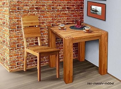 Tavolo Da Pranzo Hugo Tavolo Da Pranzo Tavolo 70 X 70 Cm In Legno Di Rovere Massiccio Oliato Da 12 X 12 Cm Amazon It Casa E Cucina