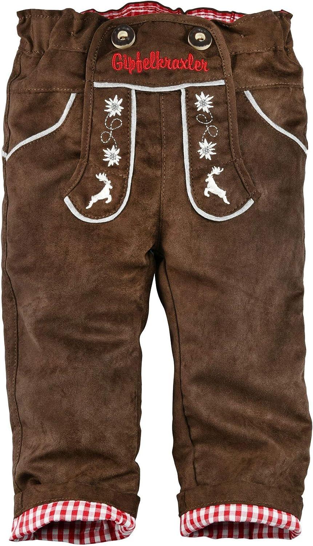 BONDI Kunstlederhose gef/üttert Tracht Baby Jungs Artikel-Nr.91210