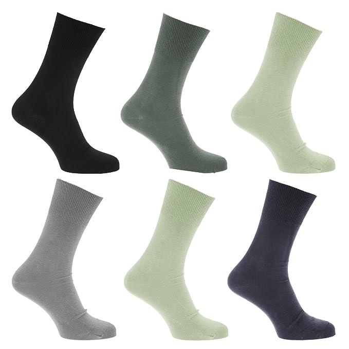 Calcetines para diabeticos sin elástico pero se mantiene arriba para hombre/caballero - Pack de 6 pares de calcetines (39-45 EUR/Azules): Amazon.es: Ropa y ...