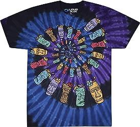 66f96ee1067b Liquid Blue Tiki Spiral Tie Dye Short Sleeve T-Shirt