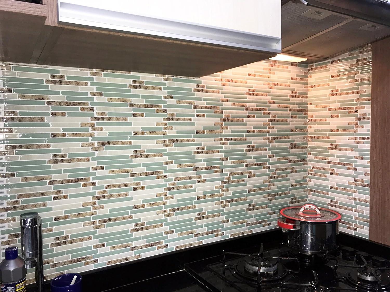 cocotik autoadhesivos 3d pared azulejos Peel y Stick Backsplash para cocina, 10.5