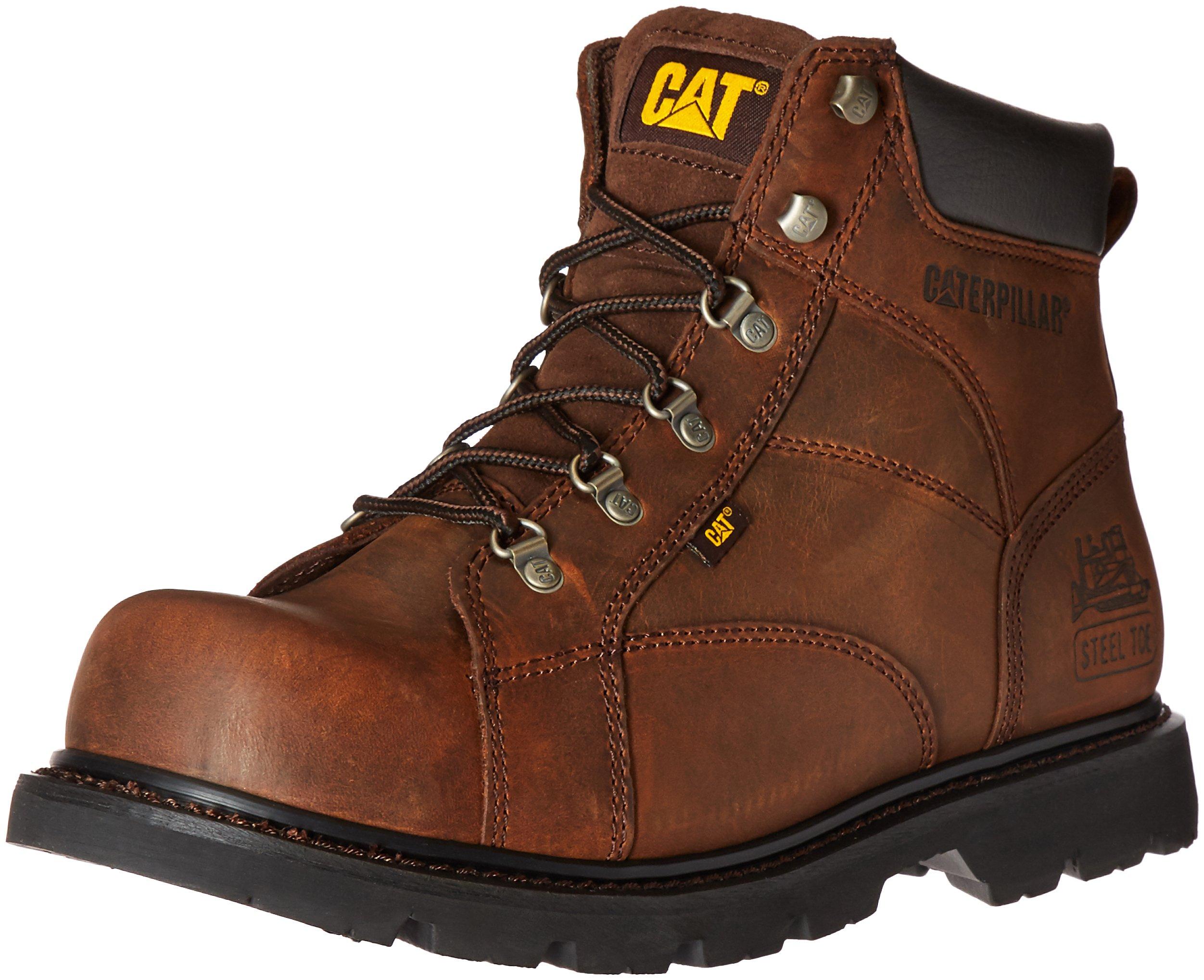 Caterpillar Men's Mortar Work Boot,Dark Brown,11.5