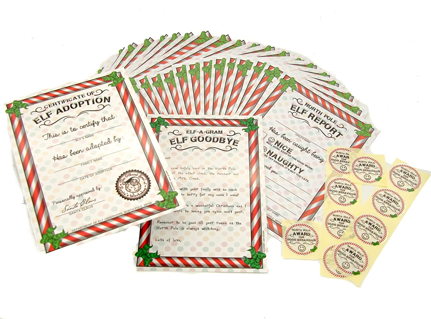 Christmas Elf Reports Arrival And Goodbye Letters Tag Activities FREE Magic Key