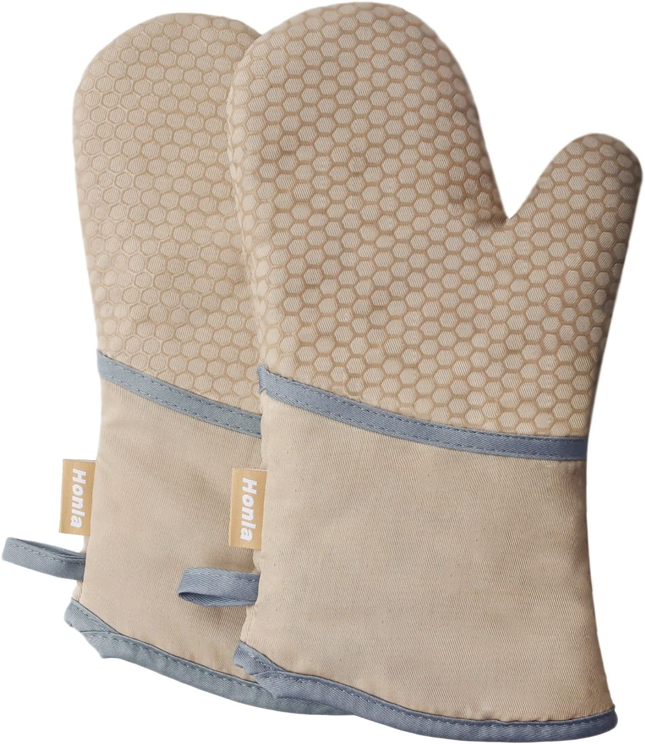 Single Oven Gloves// Gauntlet  Cooking Pot Holder Heat Resistant Mitt Mittens