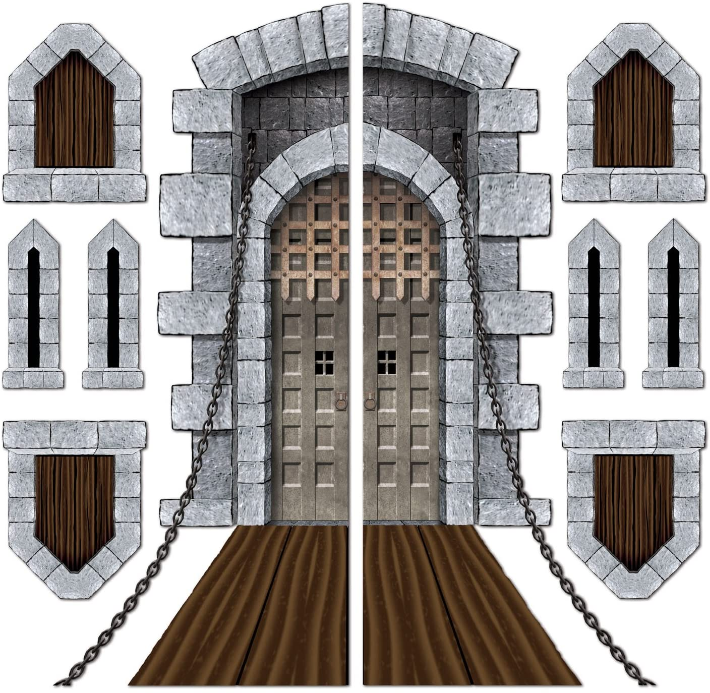 Beistle Printed Castle Door and Window Props, 16