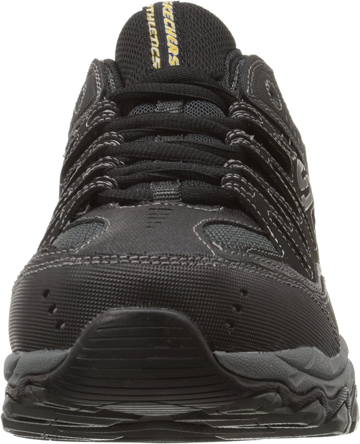 Recitar Pasteles piel  Amazon.com | Skechers Men's Afterburn Memory-Foam Lace-up Sneaker | Athletic
