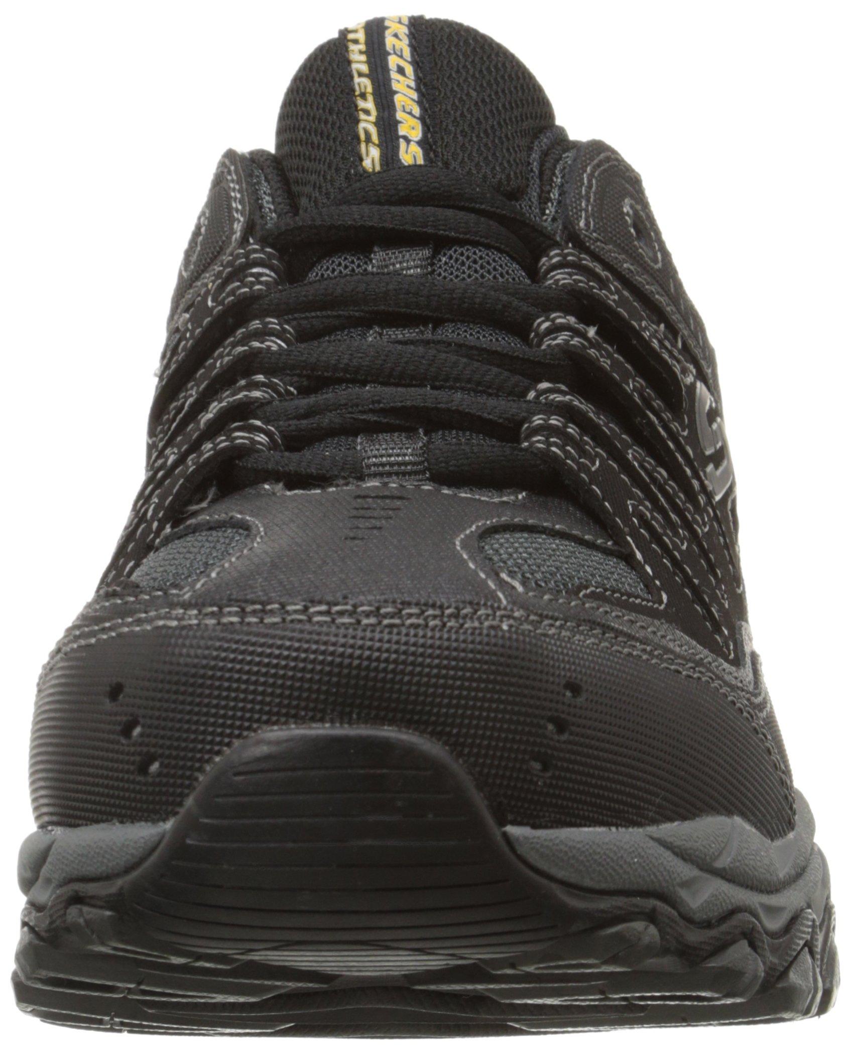 Skechers Men's AFTERBURNM.FIT Memory Foam Lace-Up Sneaker, Black, 6.5 M US by Skechers (Image #4)