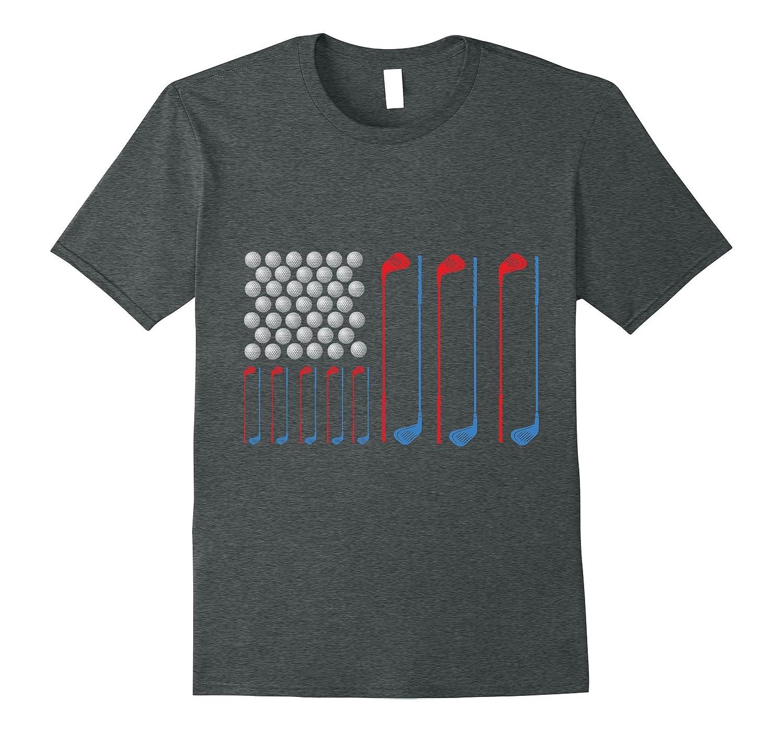 American Flag Golf Shirt 4th of July Shirt