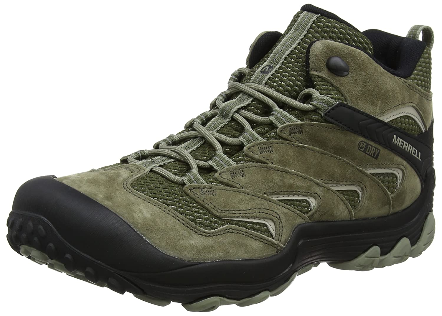 58f1245fb5 Amazon.com | Merrell Chameleon 7 Limit Mid Waterproof Men 9 Dusty Olive | Hiking  Boots