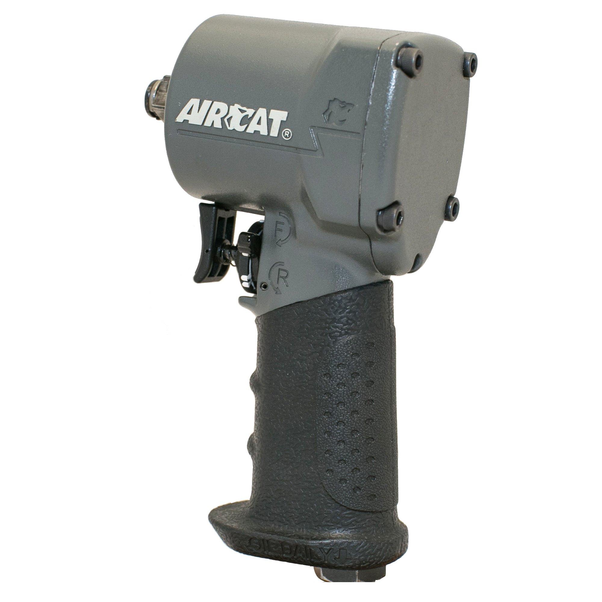 AIRCAT 1077-TH 3/8'' Impact Wrench, Compact, Grey