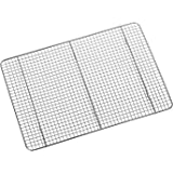 """Hiware Stainless Steel Cooling Rack Fits Half Sheet Cookie Pan - 12"""" x 17"""", Commercial Grade Thick Wire Grid, Baking Rack Oven Safe for Cooking, Baking, Roasting, Grilling"""