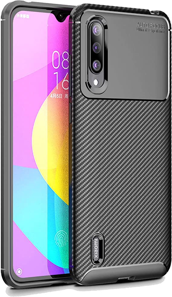 Funda Xiaomi Mi 9 Lite, Cruzerlite Carbon Fiber Texture Design Cover Anti-Scratch Shock Absorption Case for Xiaomi Mi 9 Lite (Carbon Black): Amazon.es: Electrónica