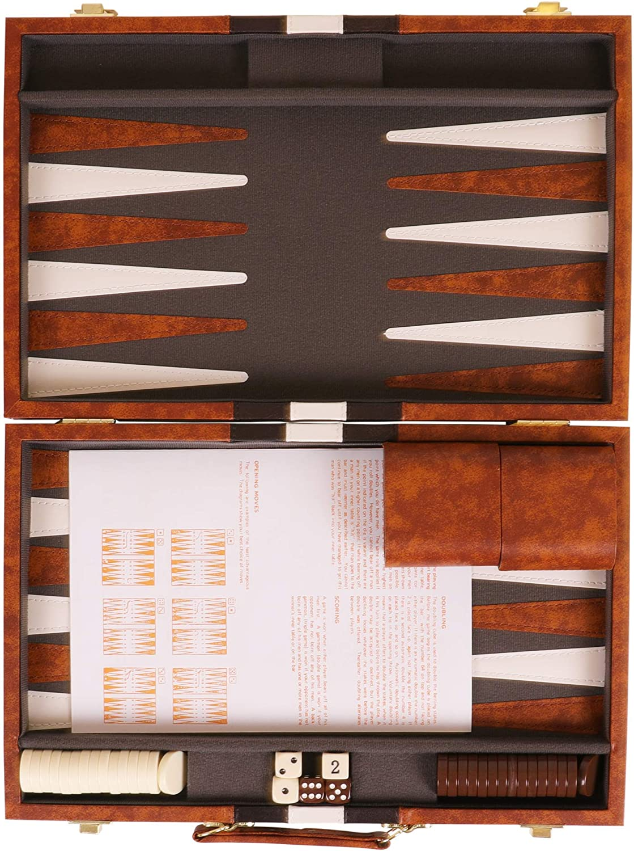 Kangaroos 14.75 Faux Leather Vinyl Backgammon Set; Favorite Board ...