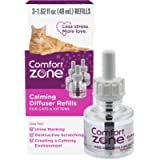 Comfort Zone Cat Calming Diffuser Refill Reduces Anxiety, Scratching, Spraying and Hiding, Vet Recommended to De-Stress…
