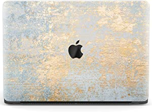 Mertak Hard Case for Apple MacBook Pro 16 Air 13 inch Mac 15 Retina 12 11 2020 2019 2018 2017 Laptop Plastic Antique Art Clear Touch Bar Luxurious Cover Protective Texture Distressed Gold Leaf