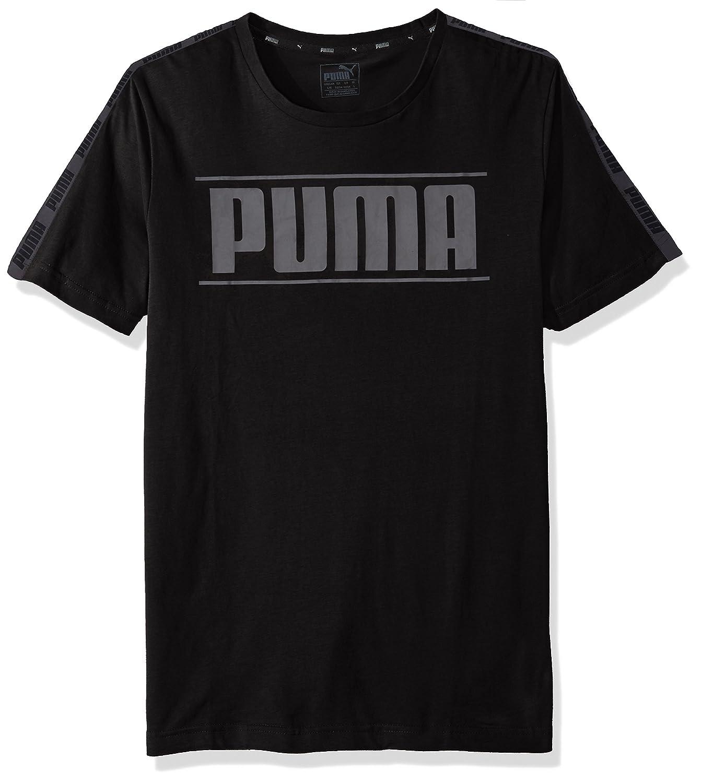 Amazon.com  PUMA Men s Rebel Tape Logo T-Shirt 6c509ffe628b