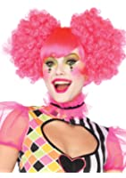 Leg Avenue Costumes Harlequin Neon Curly Puff Wig with Adjustable Elastic Strap