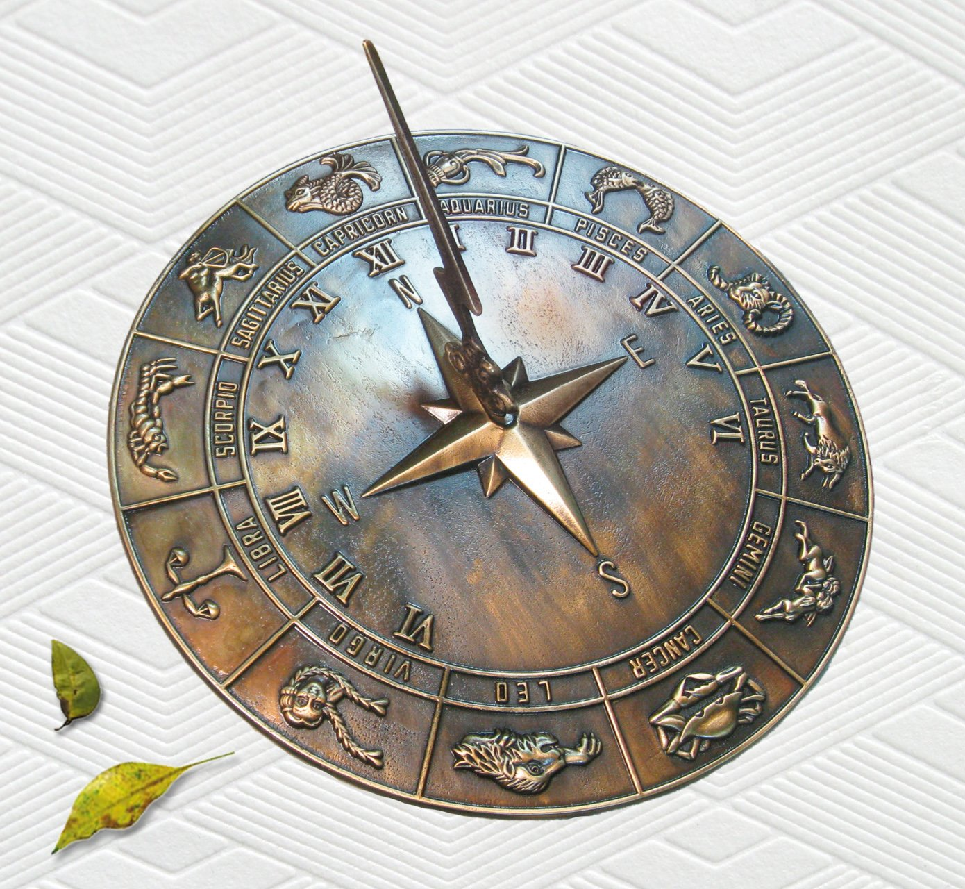 Brass Constellations Sundial - 12'' inches wide