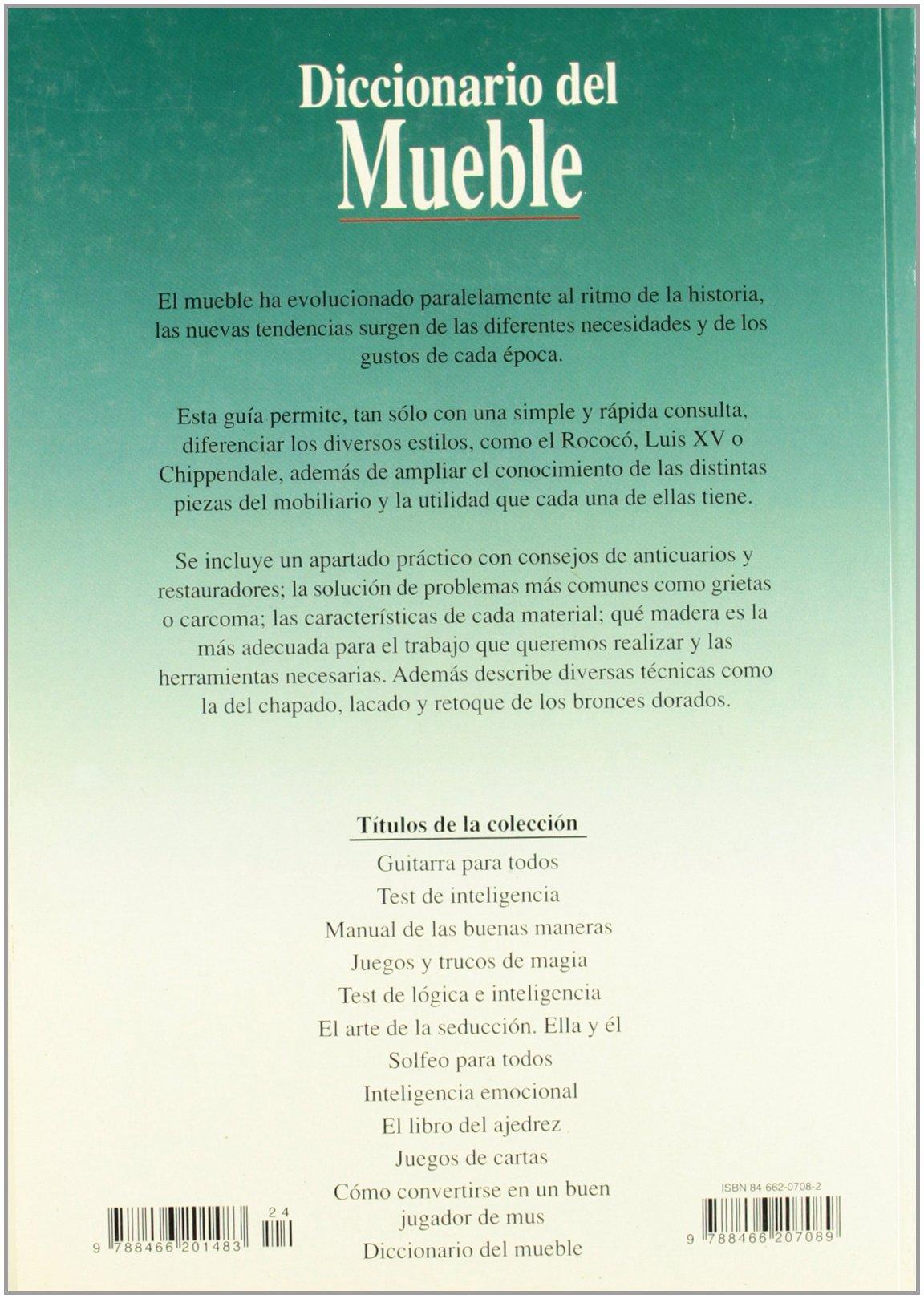 Amazon.com: Diccionario del Mueble (Spanish Edition ...