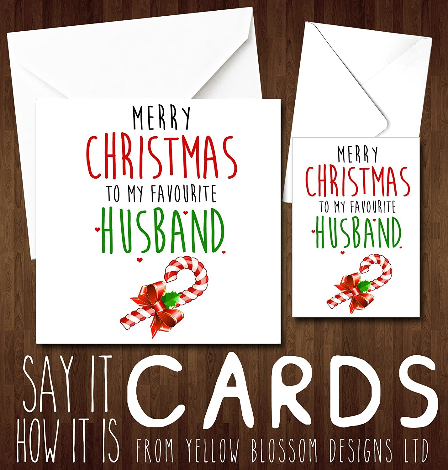 Funny Cheeky Christmas Card For Him Merry Christmas To My Favourite ...
