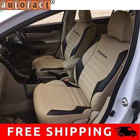 Autofact Pu Leather Car Seat Covers For Honda City Zx In Beige And