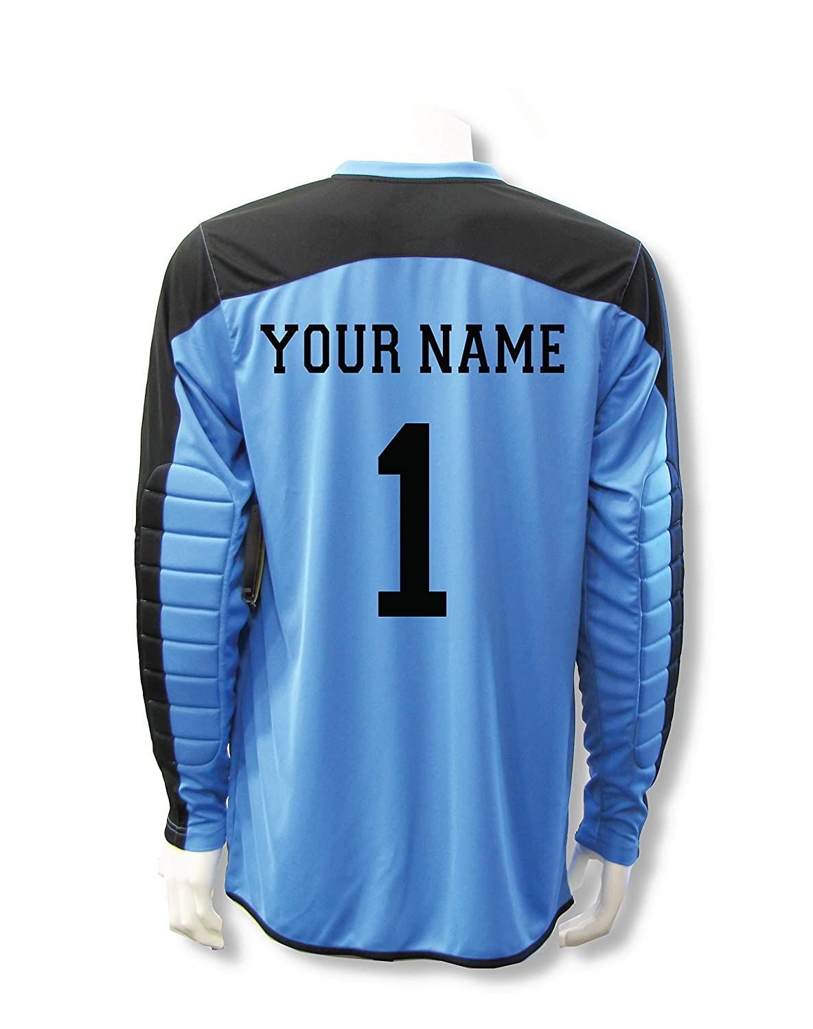 Diadora Enzo Goalkeeper Jersey Personalized with your name and number B076PXP1VNブルー(Columbia Blue) Youth Large