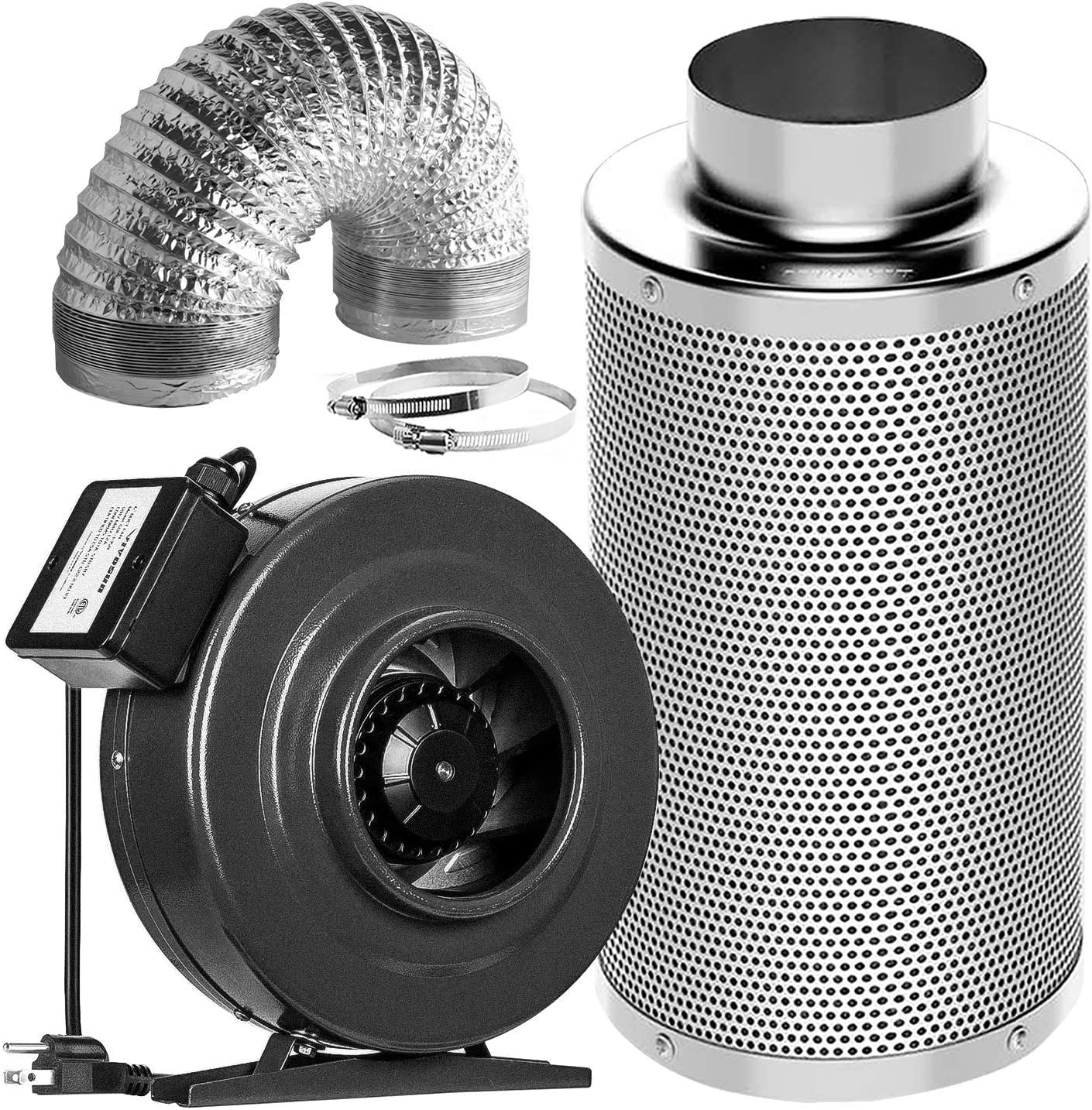 Plant Trellis Netting 5 x 15ft VIVOSUN Air Filtration Kit: 6 Inch 440 CFM Inline Fan 1 Pack 6 Carbon Filter and 16 Feet of Ducting Combo