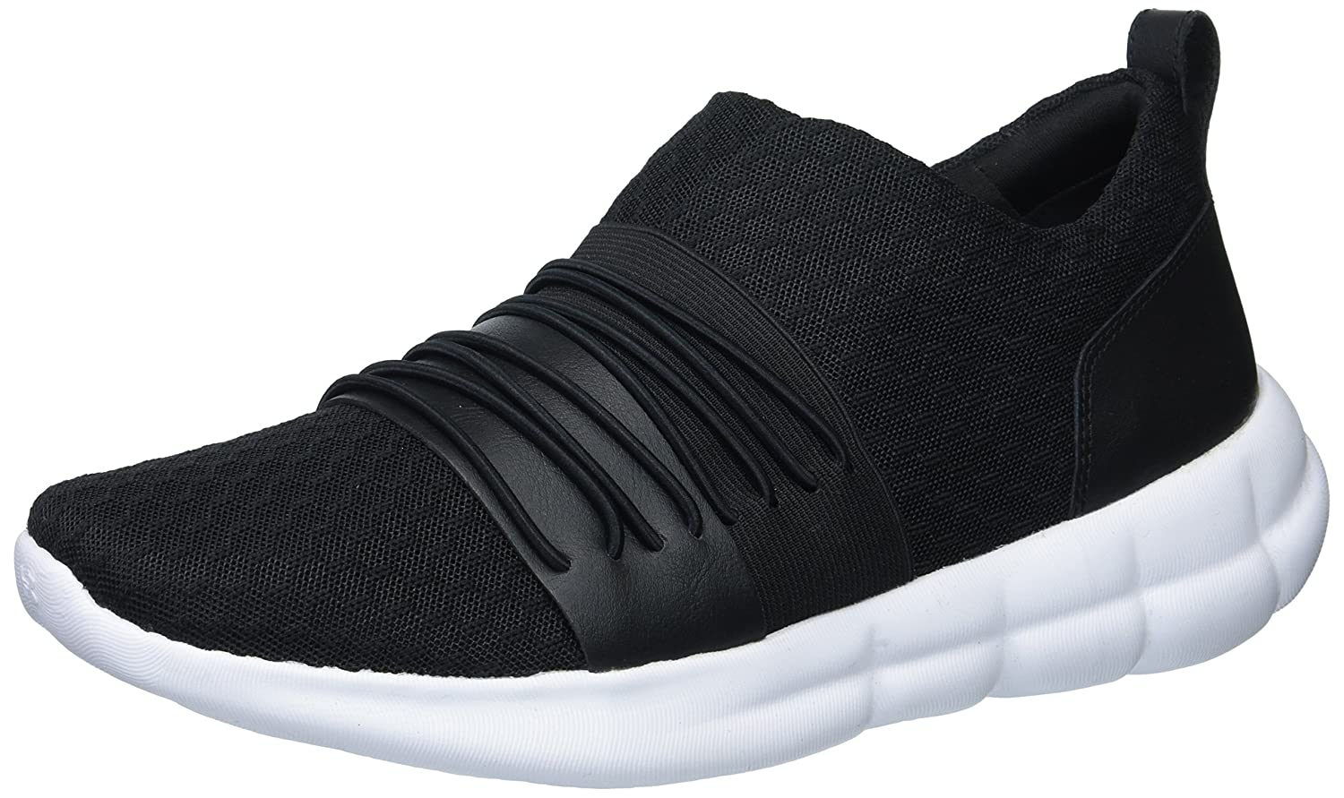 Under Armour Women's Slouchy Slip Sneaker B0728BZX4K 7 M US|Black (001)/White
