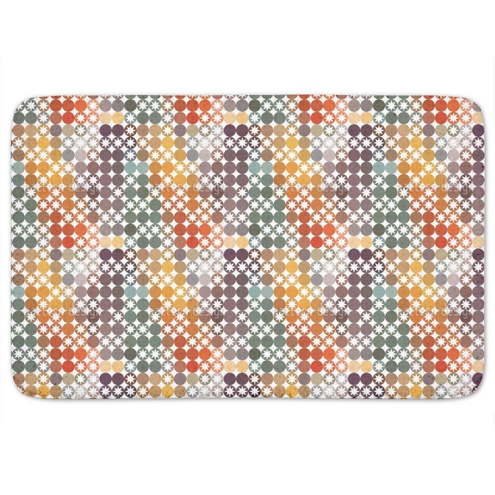 Happy Star Bingo Bathroom Rugs: Memory Foam (24 X 36 inch) Incrediby Soft Memory Foam Spa Quality by uneekee