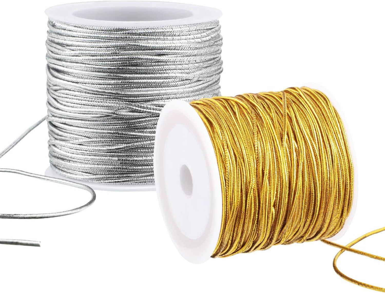 Metallic Elastic Stretch Cord 2mm