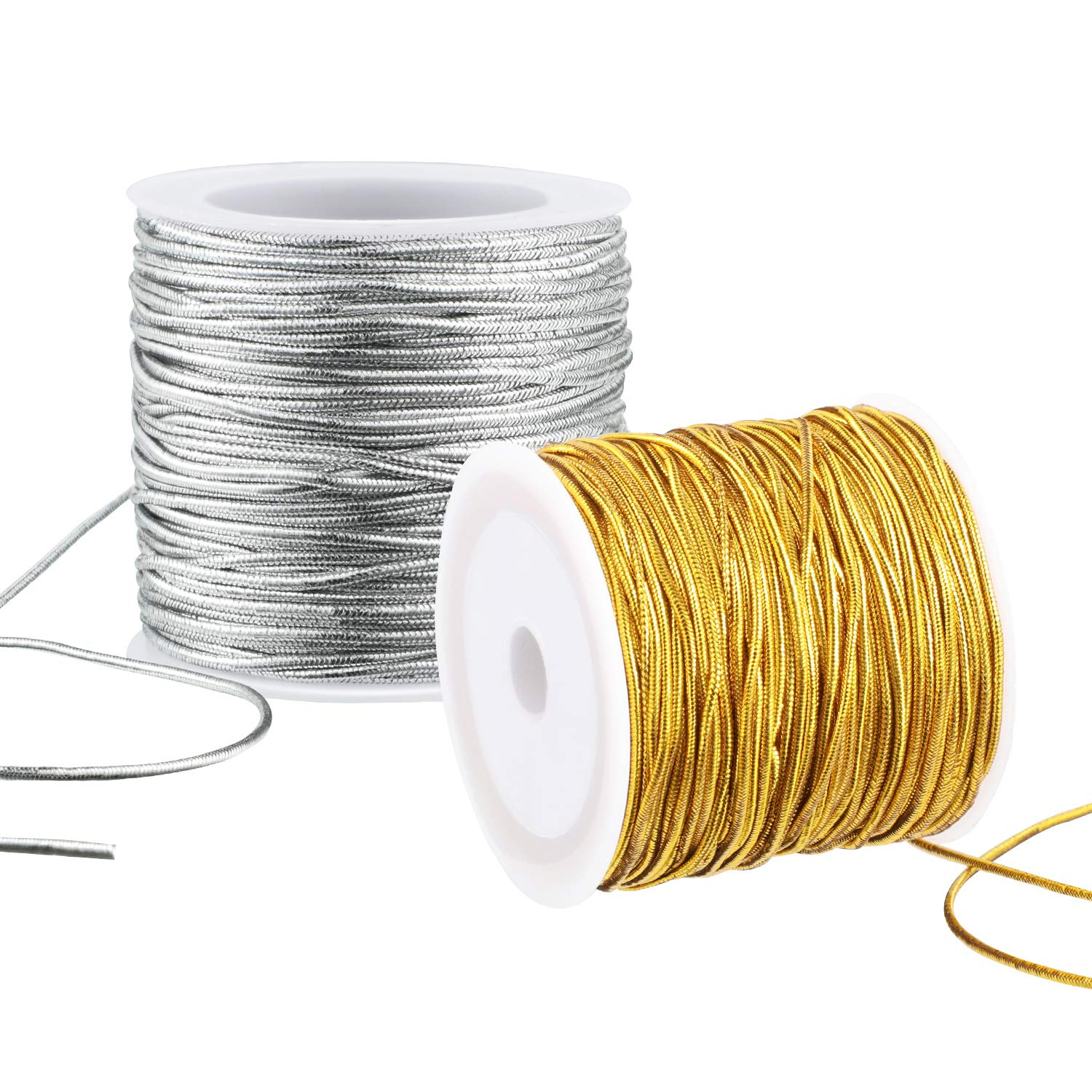 Spool Green String Metallic Cord Tinsel String Craft Making Cord for Wrapping,Hair Braiding and Craft Making 100 Meters// 109 Yards-1mm