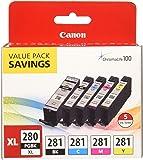 Canon PGI-280XL/CLI-281 5 Color Pack Compatible to TR8520, TR7520, TS9120 Series,TS8120 Series, TS6120 Series