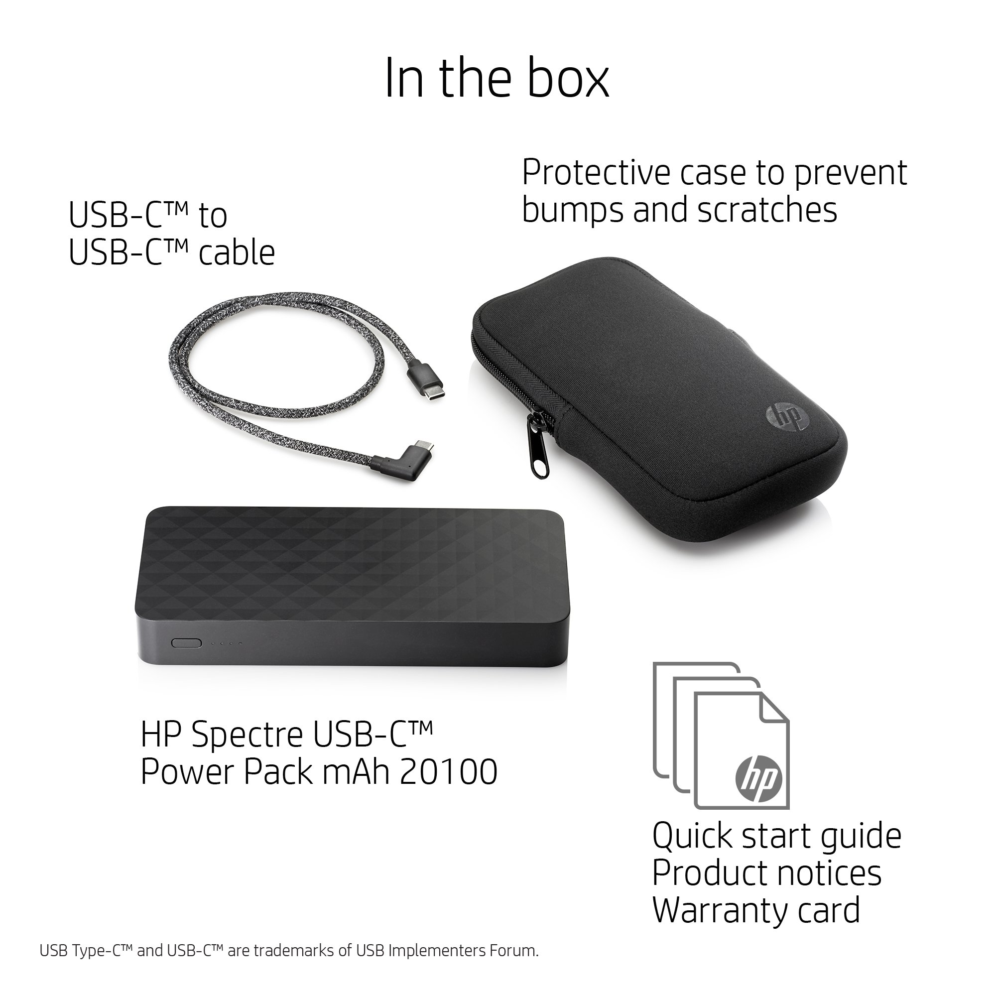 HP Spectre Power Pack 20,100 mAh for HP USB-C Charging Laptops and other devices (with two USB-C ports and a single USB-A port) by HP (Image #3)