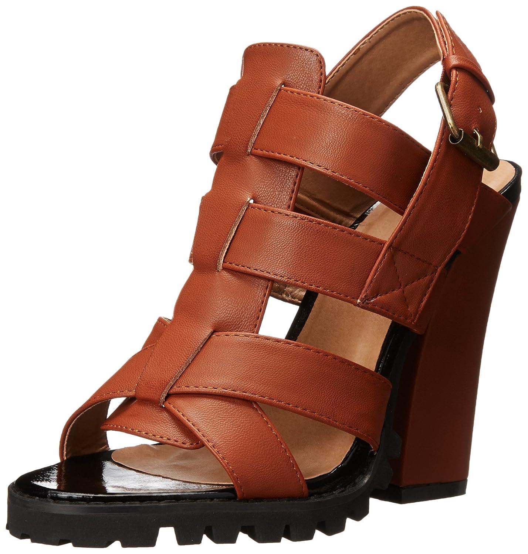 Michael Antonio Women's Kesara Platform Sandal B00PHOC49E 5.5 B(M) US|Cognac