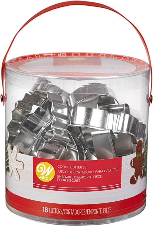 Kitchen Craft Christmas Shapes Biscuit Pastry Cutters /& Storage Tub Cookie