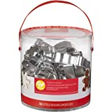 Wilton Holiday Shapes Metal Christmas Cookie Cutter Set, 18-Piece