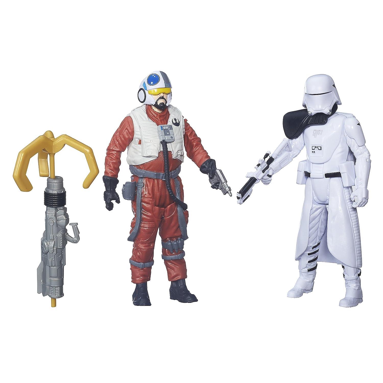 2 Unidades Star Wars/El Despertar de la Fuerza Figuras de Sidon Ithano y Primer Oficial Quiggold 9,53/cm