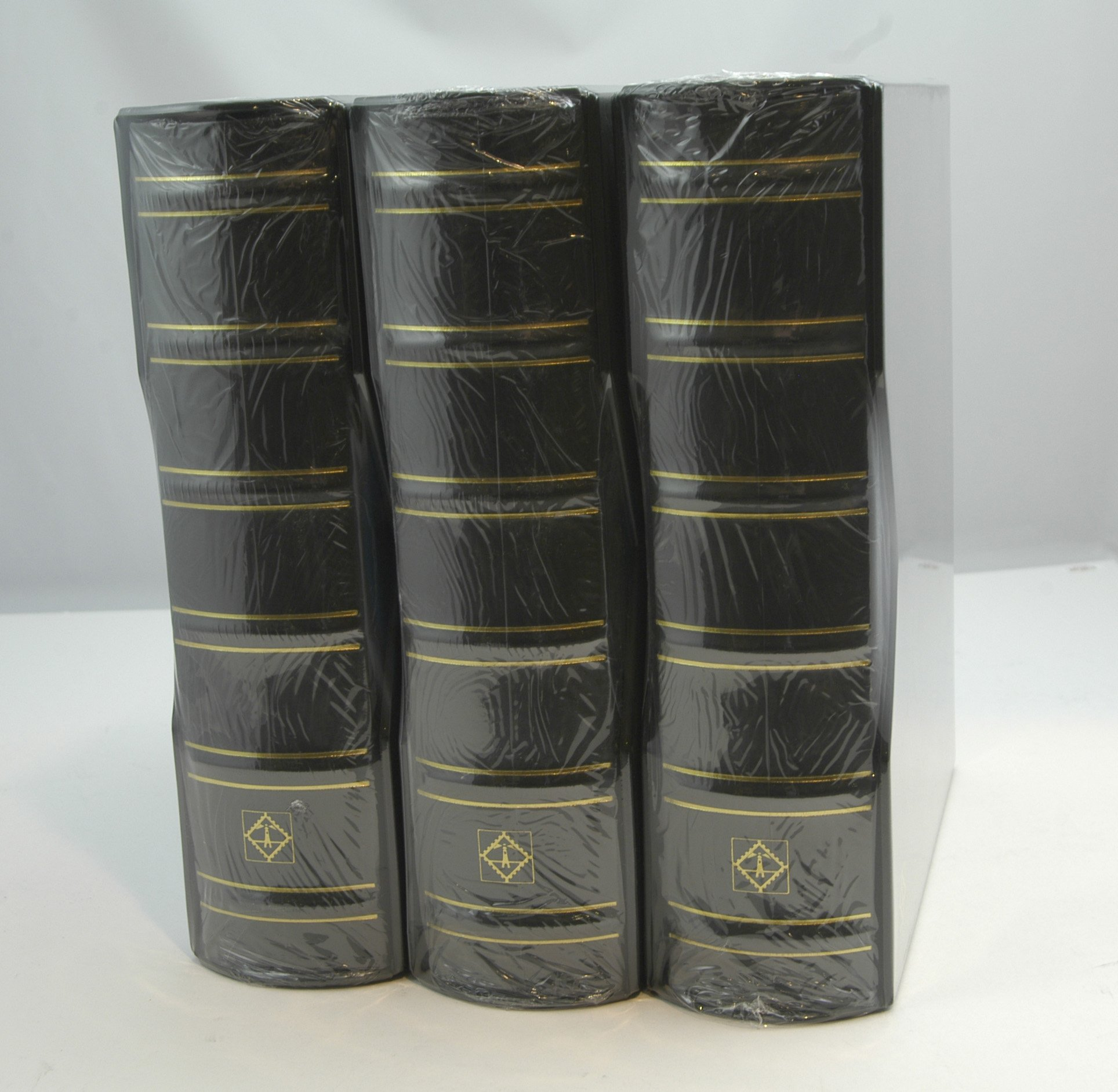 Lighthouse Vario-G Classic Binders with Slipcases, Black, Set of 3