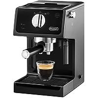 De'Longhi ECP 31.21 Espresso Siebträgermaschine | Siebträgerhalter mit Aluminium Finish | Milchschaum Düse | Filtereinsatz für 1 oder 2 Tassen Espresso | Auch für Pads Geeignet | Schwarz