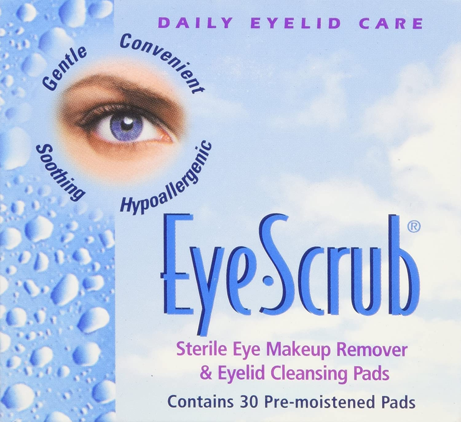 Eye Scrub Sterile Makeup Remover and Eyelid Cleansing Pads, 30 Count (Pack of 3) Everready First Aid NOV010330-X3