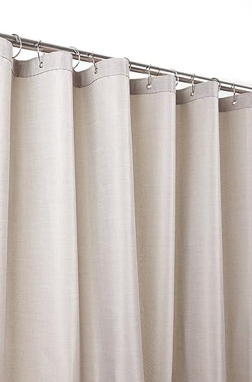 Möve Shower Curtains Duschvorhang 180 X 200 Cm Aus Pflegeleichtem Gewebe  Mit Teflonbeschichtung, Beige
