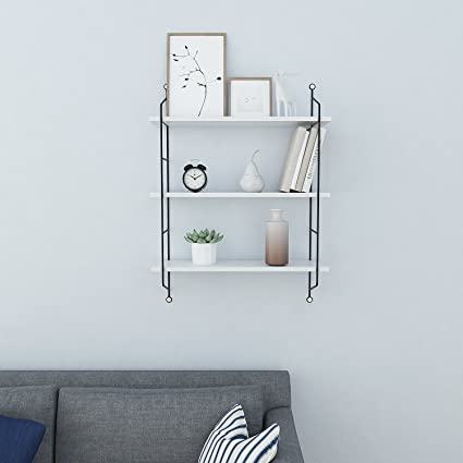 Amazon.com: Homdox Industrial Floating Shelves Wall Mounted Metal ...