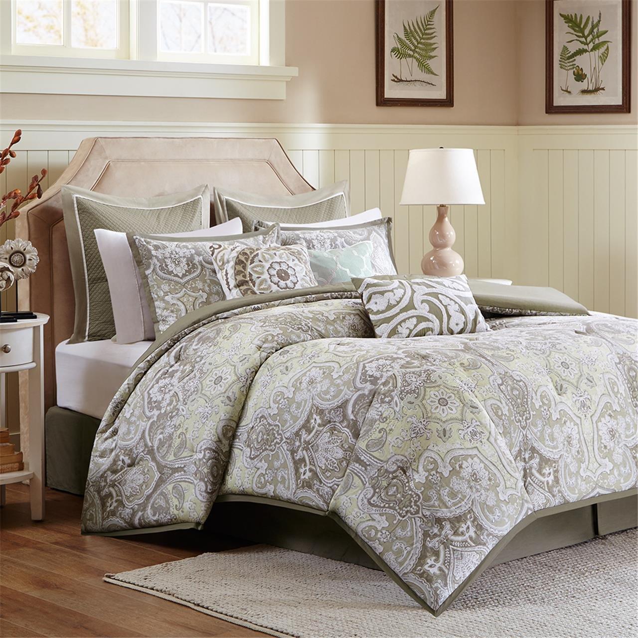 Elegant Amazon.com: Harbor House Cecil Comforter Set, Taupe, Queen: Home U0026 Kitchen
